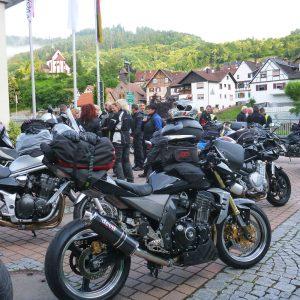 Motorradausfahrt 2018 Abfahrt